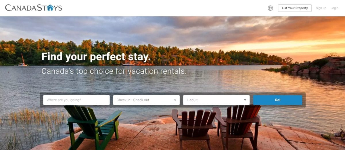 CanadaStays vacation rental OTA listing site