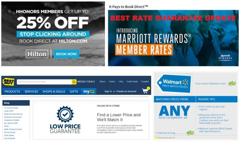 Best Rate Guarantee Marriott Hilton Walmart Best Buy Vrm Intel