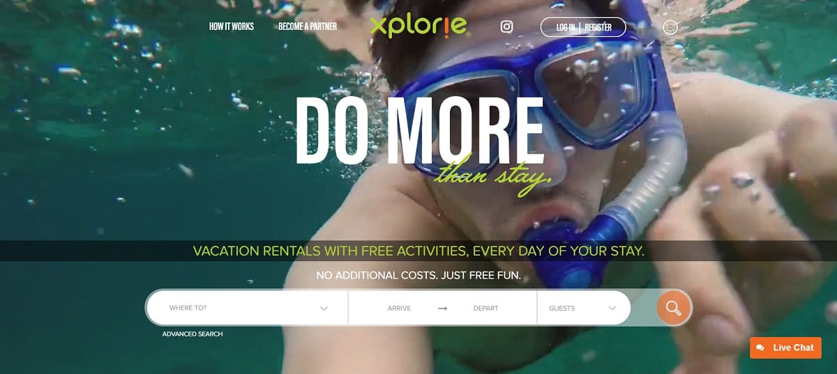 xplorie website guest activities vacation rental partners