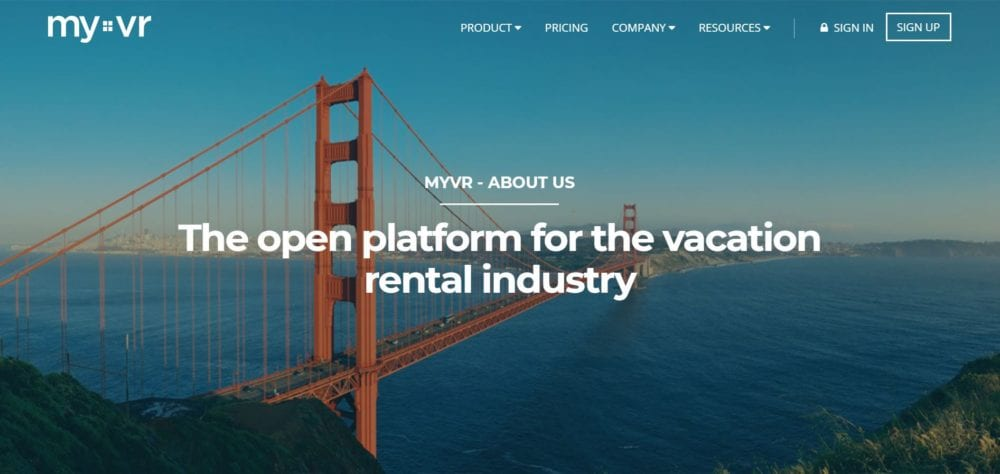 myvr vacation rental management software platform