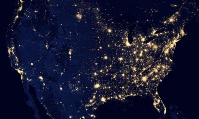 satellite US night light vacation rental network