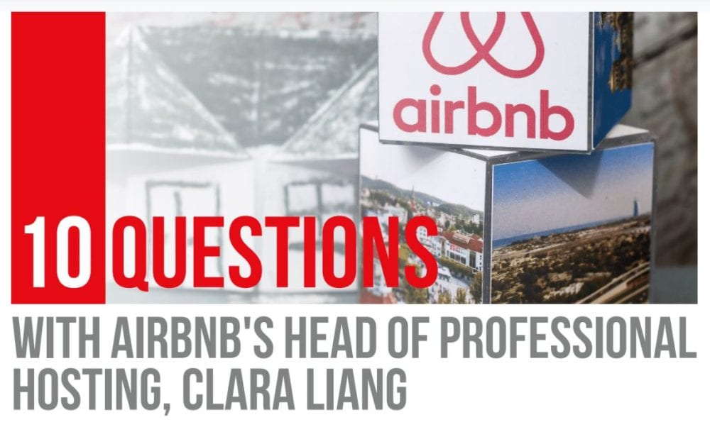 interview airbnb head of professional hosting clara liang