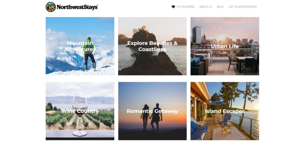northwest stays direct booking vacation rental advertising marketplace